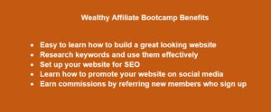 Affiliate Bootcamp Benefits